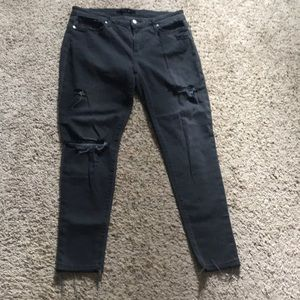 Black Distressed Joe's Jeans